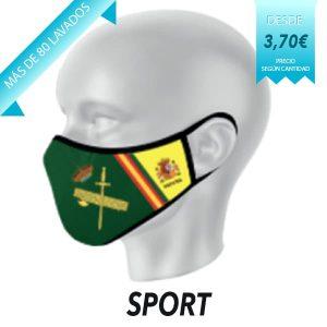 Mascarilla reutilizable modelo Sport
