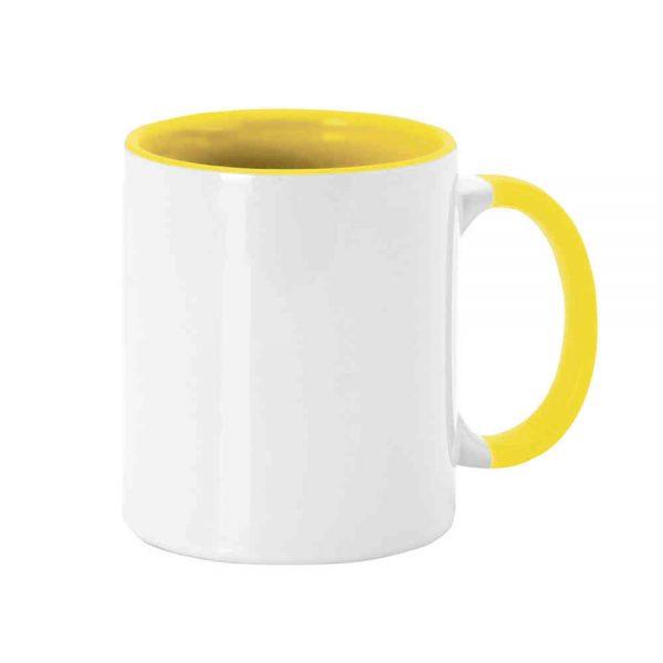 Taza interior y asa amarilla
