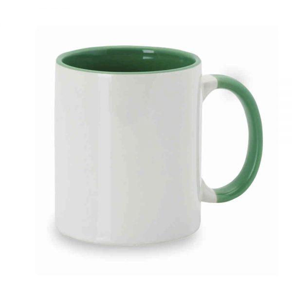 Taza interior y asa verde