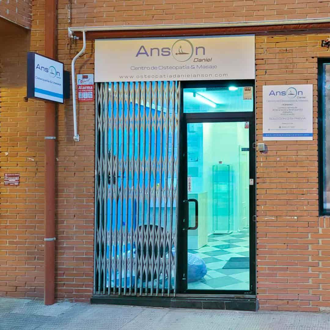 Rotulación Centro de Osteopatía, Quiromasaje & Masaje Deportivo Daniel Ansón