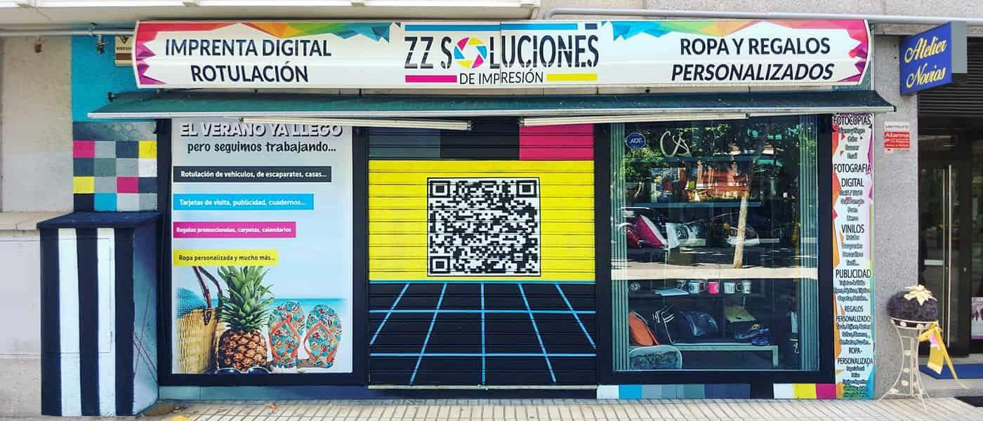 Fachada exterior Z&Z Soluciones de Impresión.